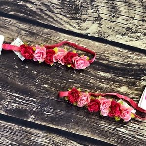 Twinning Pink And Red Floral Headband Set